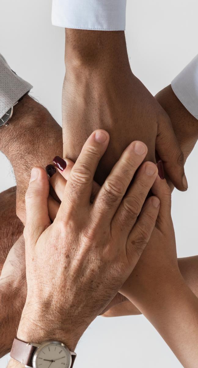 manos de adultos juntas