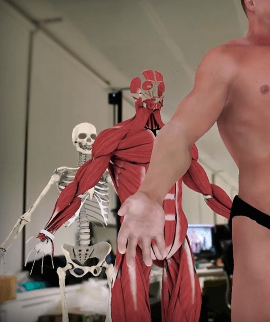 hologramas cuerpo humano