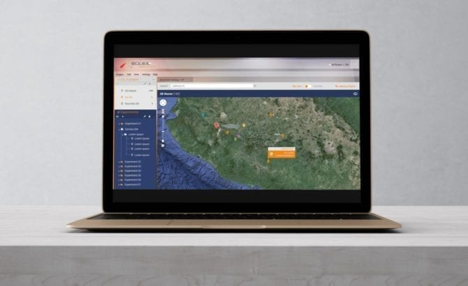 ordenador portatil mapa