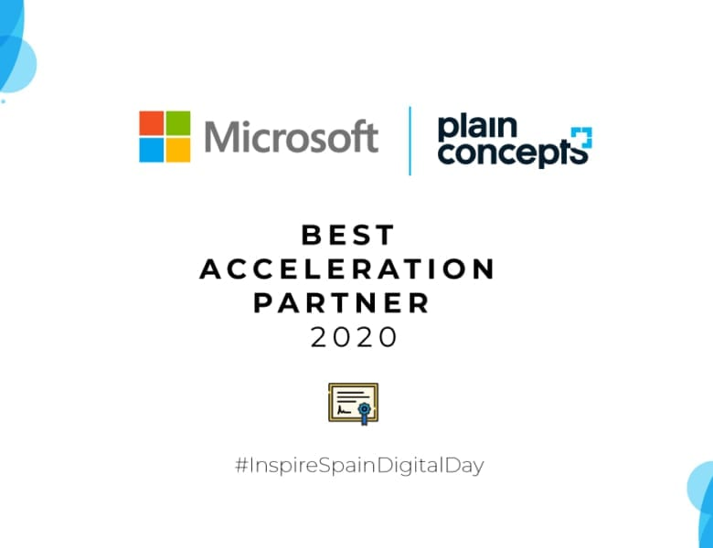 Plain Concepts Best Acceleration Partner 2020