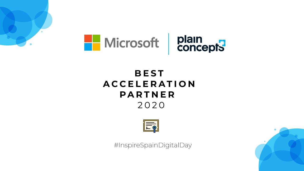 Plain Concepts Best Acceleration Partner 2020