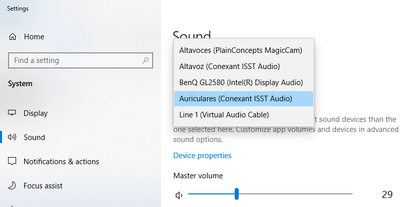 Magic Cam sound Configuration