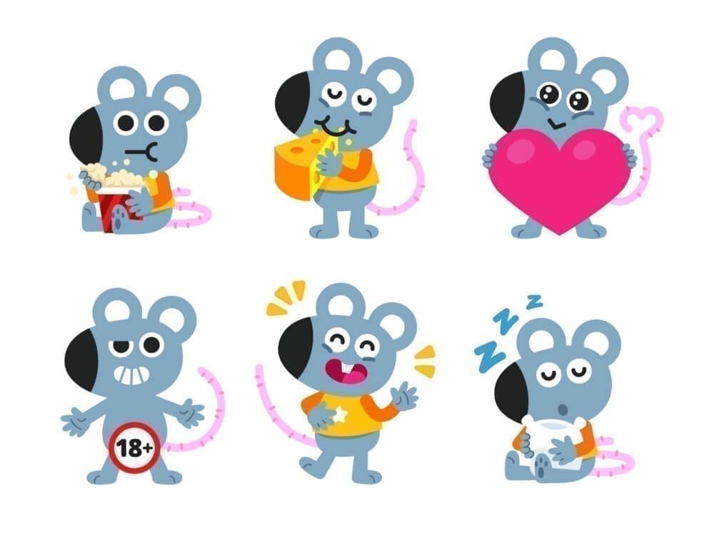 Ilustraciones mascota ratón
